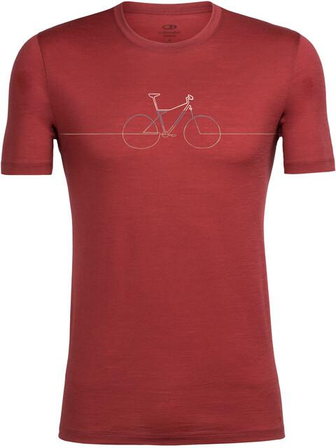 Icebreaker M's Tech Lite Cadence SS Crewe Shirt vintage red/straw